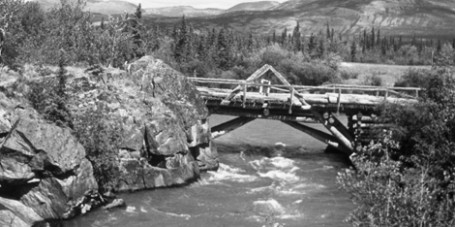 Alaska Highway Aishihik River Bridge Yukon 1948