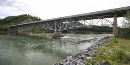 Hyland River Bridge Alaska Highway British Columbia