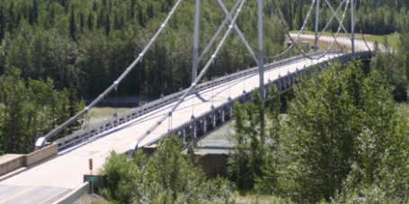 Lower Liard River Bridge Alaska Highway British Columbia