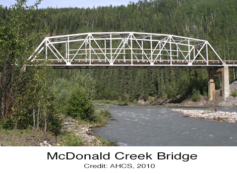 McDonald Creek Bridge Alaska Highway British Columbia