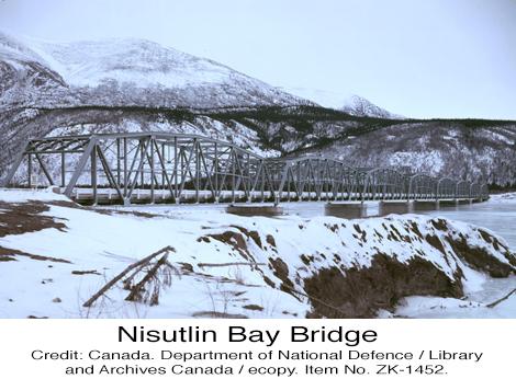 Nisutlin Bay Bridge Alaska Highway Yukon