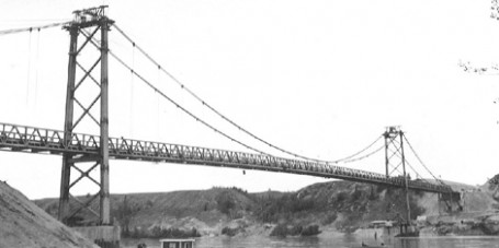 Historic Peace River Suspension Bridge Alaska Highway British Columbia