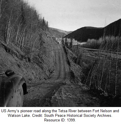 Alaska Highway Construction Pioneer Road Tetsa River