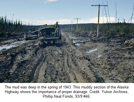 Alaska Highway Construction Mud