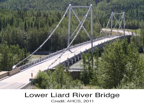 Lower Liard River Bridge Alaska Highway British Columbia