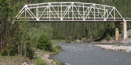 McDonald Creek Bridge Alaska Highway British Columbia
