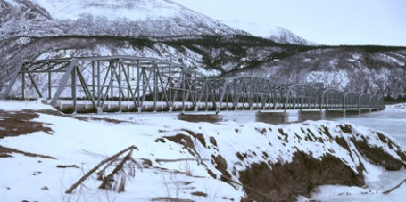 Nisutlin Bay Bridge Alaska Highway Yukon