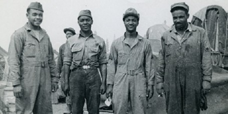 Alaska Highway Construction African American Regiment Charlie Lake British Columbia 1942