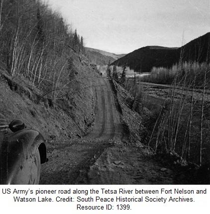 Alaska Highway Construction Pioneer Road Tetsa River