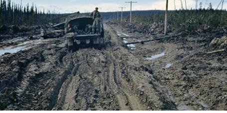 Alaska Highway Construction Mud